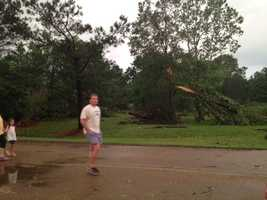 The storm also did damage in the Lake Caroline area.