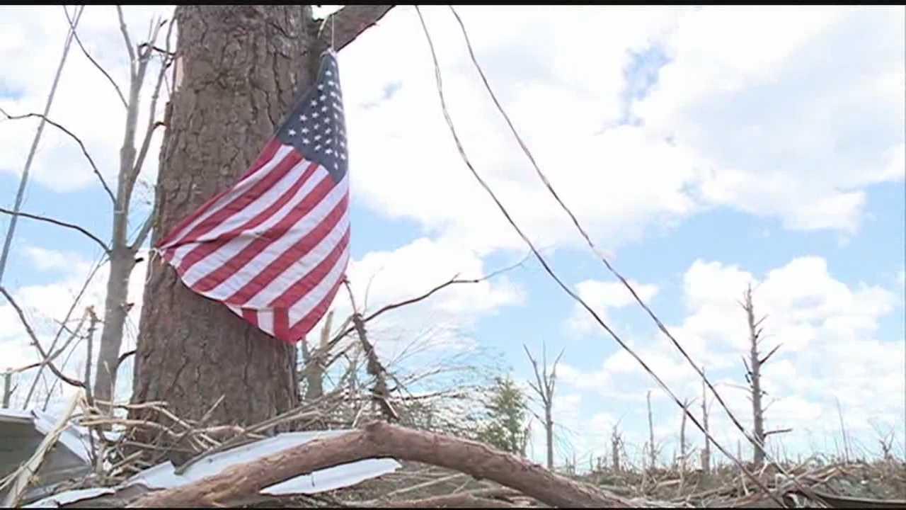 tornado damage flag