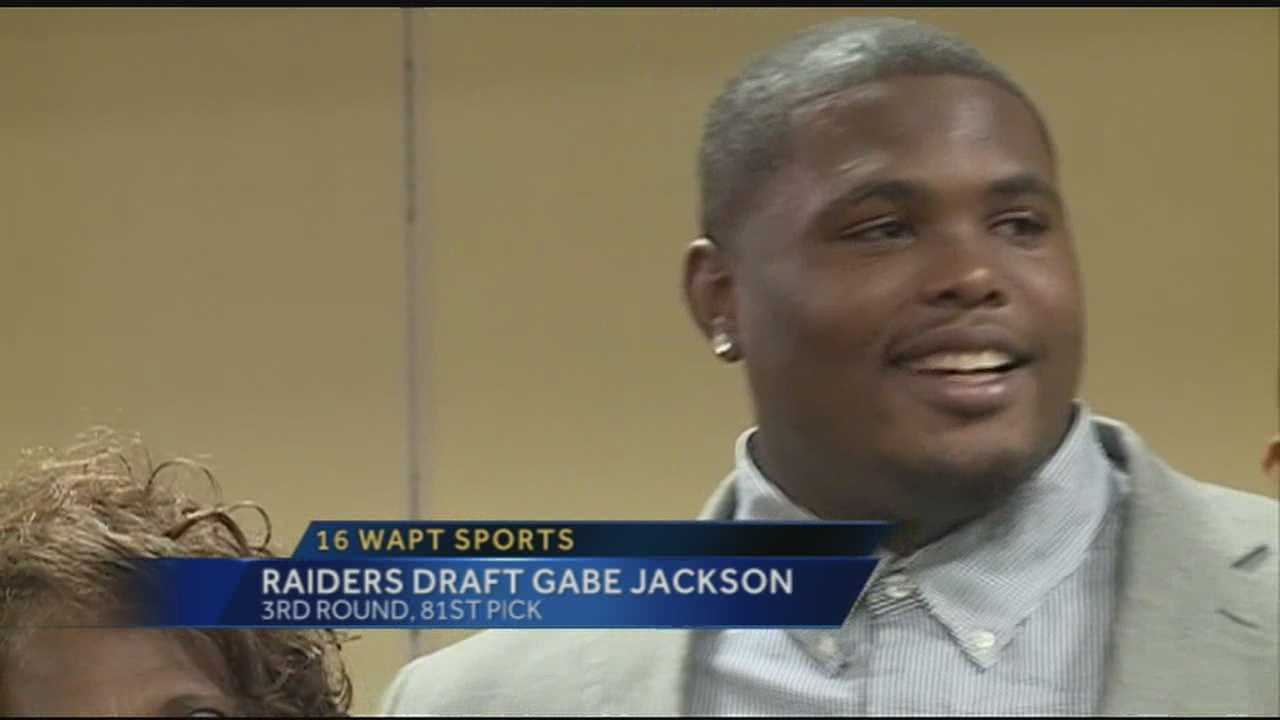 The Oakland Raiders drafted Mississippi State offensive lineman and Liberty native Gabe Jackson in the 3rd round, 81st overall.