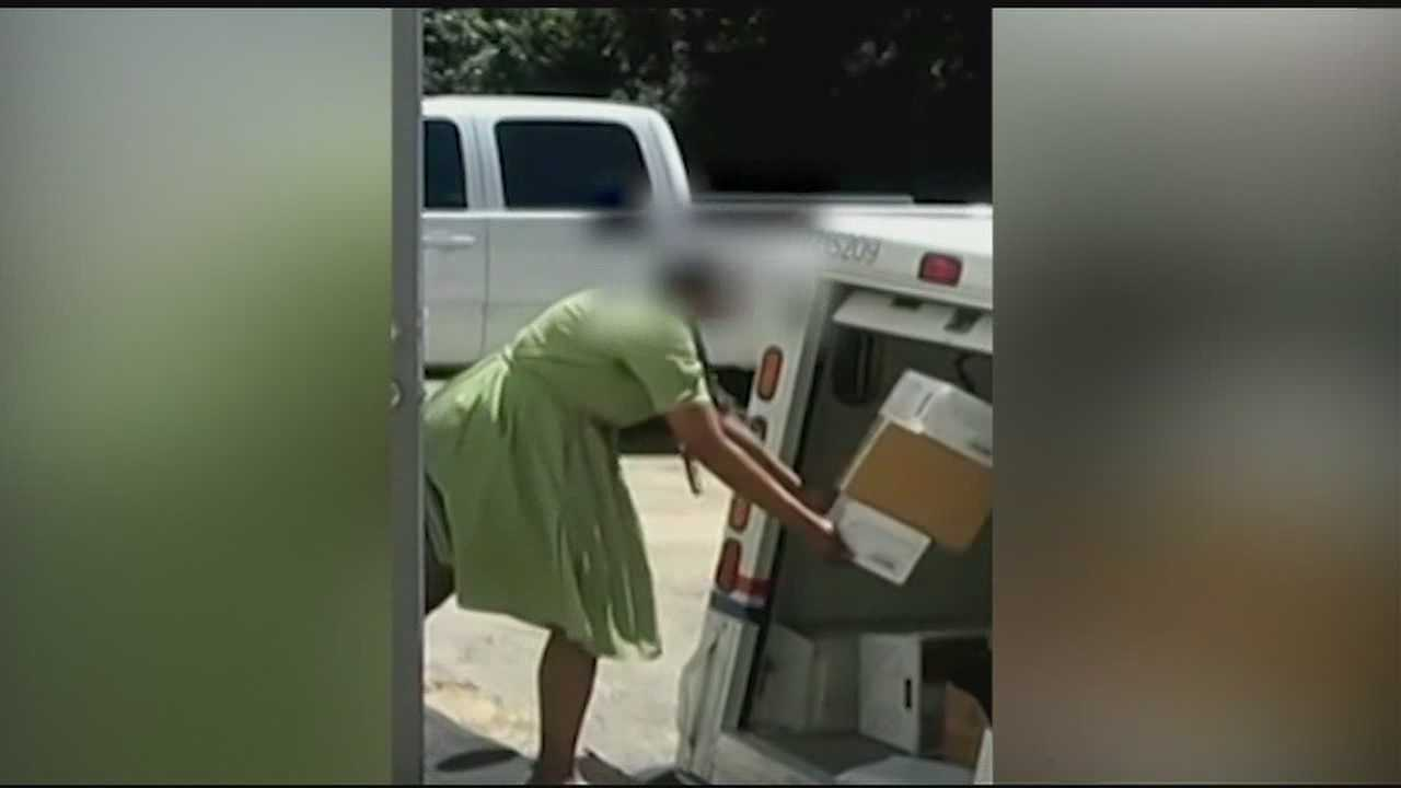 Postal packages thrown into truck