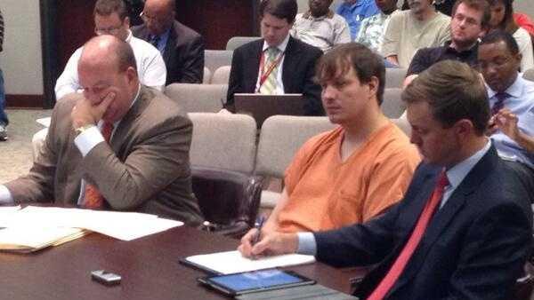 Clayton Kelly in court.