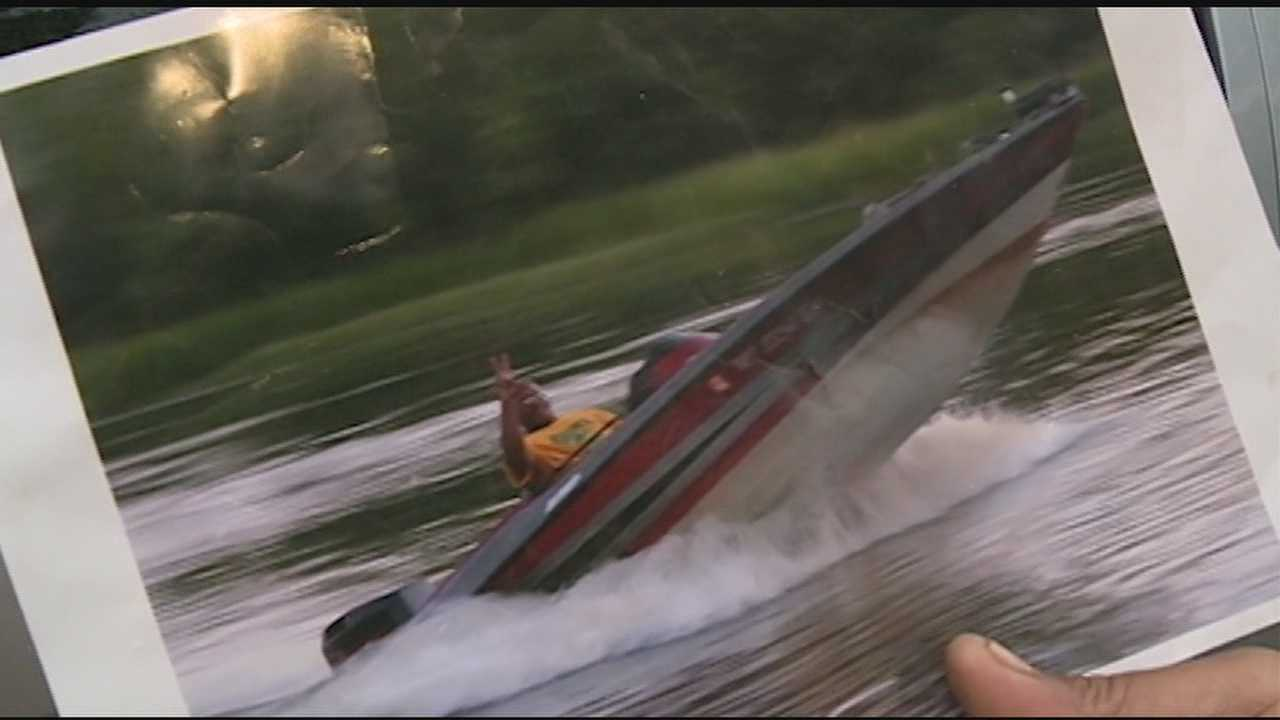 A Jackson man says someone swiped his boat right out of his own driveway.