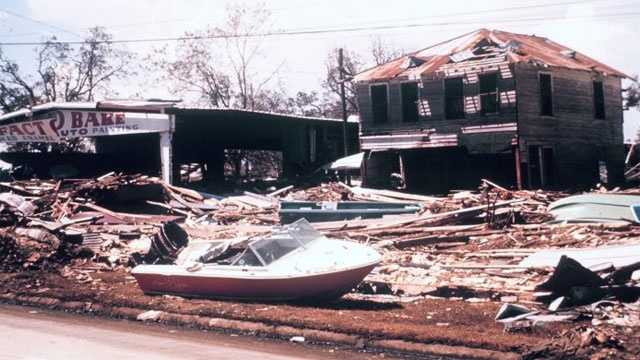Damage from Hurricane Camille