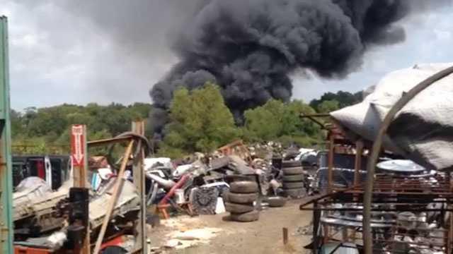 salvage yard fire 2