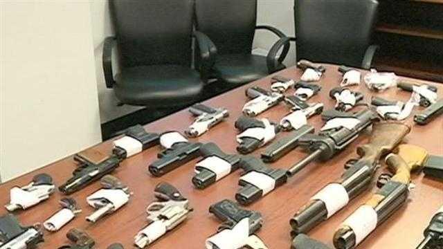 72 Guns Seized From Jeff Davis Constable Bullock - 29677696