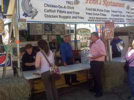 Chicken on a Stick is always a big hit at the Mississippi State Fair.