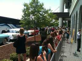 "Movie fans line up for a chance to see the stars of ""The Help,"" which premiered in Madison."