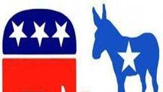 Republican elephant democrat donkey - 21532096