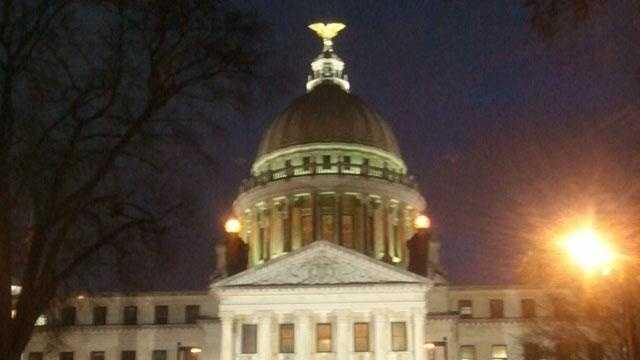 mississippi state capitol capital night time - 30524329