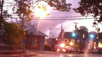 Fire officials say the building was fully engulfed in flames and heavy smoke when crews arrived.