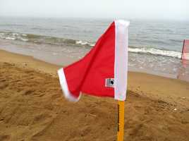 Friday was a red flag day at Sandy Point State Park. Let's hope it clears up and that goes away!