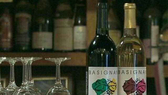 wine bottles, vineyard