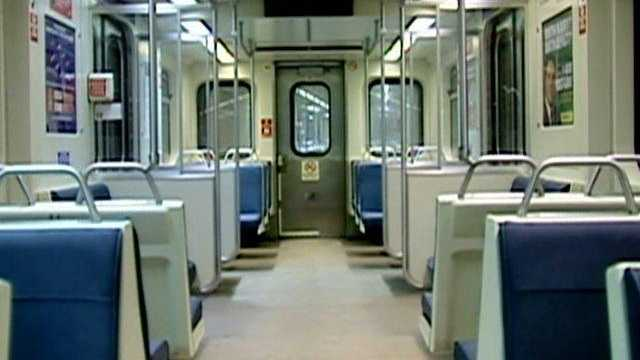 Baltimore MTA subway train