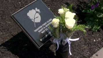 """""""People make promises not to forget. Well, we try not to go back on that promise, and it's important that we come out here every year and honor those people who made the ultimate sacrifice and honor their families and, really, to celebrate those of us left still doing the job,"""" Howard County Police Chief William McMahon said."""
