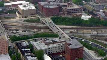 Emergency road closures began at the 29th Street exit ramps so crews could repair piping below the roadway.