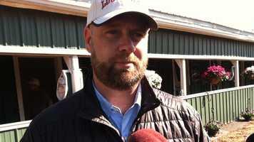 Kentucky Derby winning trainer Doug O'Neill arrives in Baltimore on Thursday.