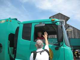 The vehicles on display included dump trucks, trash trucks, heavy equipment, large tow trucks, construction equipment, fire trucks and police vehicles.