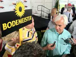 Of course, O'Neill wasn't the only one. Trainer Bob Baffert's Bodemeisteris the horse considered by many of the trainers and jockeys as the one that will set the pace -- and, perhaps, the one to beat. | WBAL-AM\Scott Wykoff