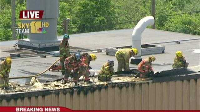 manufacturing plant fire