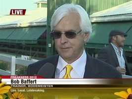 """I've been lucky enough to win this race five times. Now I know what the guys that ran second here feel like, but all a trainer can ask for is that his horse showed up,"" Bob Baffert tells 11 News. ""Baltimore is the best, I'm telling you."""