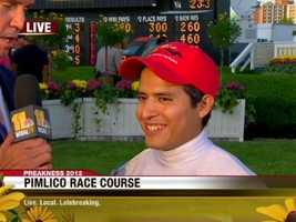 """It feels amazing. I'm just happy. I have a lot of emotions right now,"" I'll Have Another's jockey, Mario Gutierrez, told 11 News. ""It's just amazing, it's indescribable, it's unbelievable."""