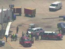 BWI spokesman Jonathan Dean said the bag was found smoking on the tarmac near a Southwest plane bound for Las Vegas in the Terminal B area.