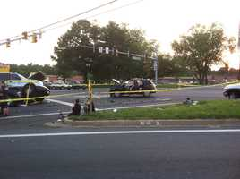 Several cars collided shortly after 6:15 p.m. on Belair and Mountain roads in Fallston on Monday evening.