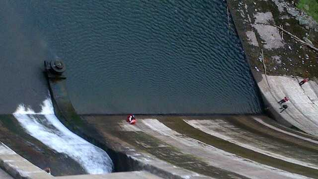 Fire crews had to rescue a man Sunday after officials said he tried to walk across the Prettyboy Dam in Baltimore County.