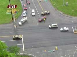 Traffic lights were out throughout parts of Carroll County after the storm.