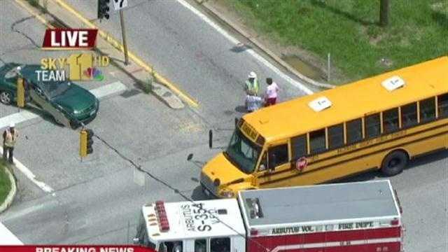 School bus accident - Roy