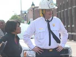 Mayor Stephanie Rawlings-Blake and Fire Chief James Clack were called out to the scene.