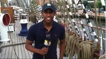 11 News reporter Sheldon Dutes is traveling on the Cisne Branco, a Brazilian tall ship headed for Baltimore for the Sailabration, which will commemorate the 200th anniversary of the War of 1812 and the creation of the Star-Spangled Banner.