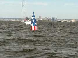 Frances Scott Key Bouy marking the spot where he was held when he saw the rockets red glare.