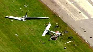 Maryland State Police say a small plane crashed at the Carroll County Airport around 11 a.m. Friday.