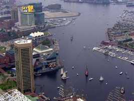 SkyTeam 11 shows the Parade of Ships Tuesday as Sailabration comes to a close.