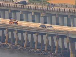 As the vessel made its way north, the MdTA tracked its timing and warned commuters to avoid the Key Bridge at about 4 p.m. for about an hour.