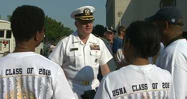 The Class of 2016 was chosen from more than 20,000 applicants, which is a record for the Naval Academy.