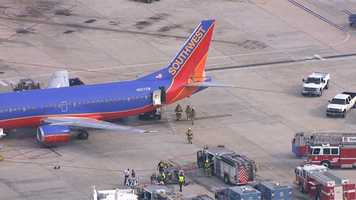 A flight attendant becomes ill aboard a Southwest Airlines flight that landed at BWI Thursday afternoon.