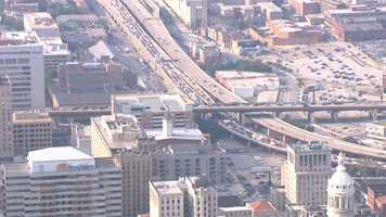 The traffic nightmare downtown also backed up the southbound Jones Falls Expressway into town.