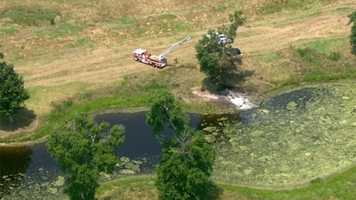 A police official said the banner plane crashed about 10:50 a.m. Thursday at Bunting's Field Airport on Carey Road in Berlin.