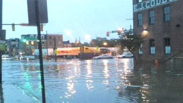 Storm flash floods Fells Point