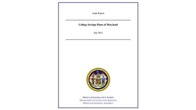 College Savings Plan audit cover page