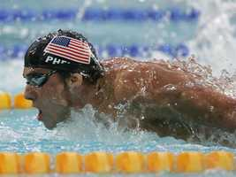 But, of course, hometown swimmer Michael Phelps was the first most-anticipated event/athlete our friends looked forward to watching.