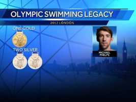 Then, by Tuesday at the 2012 London Games, Michael has secured one gold and two silver medals -- which includes the record-breaking 19th medal won at Tuesday night's 4x200m Freestyle Relay.