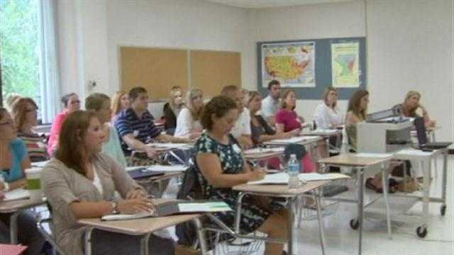 New teachers become students for day