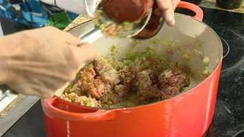 Picadillo Step 9: Add ½ cup tomato paste