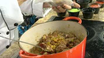 Picadillo Step 13: Add ½ cup golden raisins