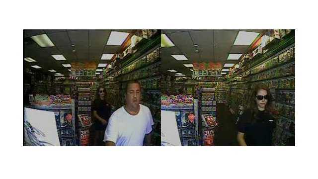 Anne Arundel County detectives said they are looking for two people who tried to use a stolen credit card at a Game Stop store in Laurel.