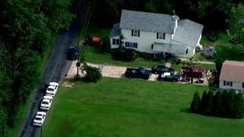 Authorities were at the home of the mother of the suspected Perry Hall High School shooter.