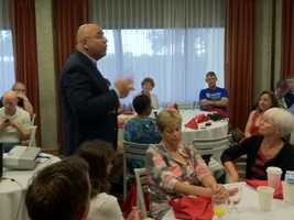 State Sen. E.J. Pipkin, R-District 36, speaks to the delegation gathered before the convention.